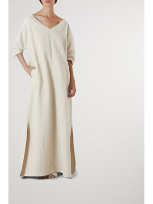 Cortana cenit linen and cotton-blend maxi dress