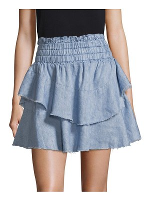 Cosette Corinne Tiered Denim Skirt