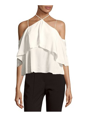 Cosette Cropped Silk Blouse