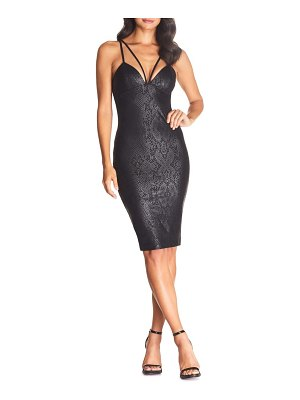 Cosmopolitan Dress the Population vickie strappy snake print body-con dress