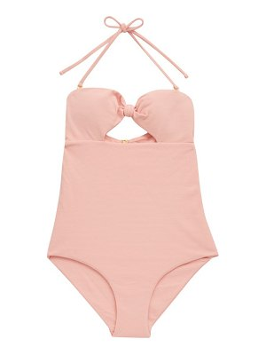 Cossie + Co the chazzy knotted honeycomb-effect swimsuit