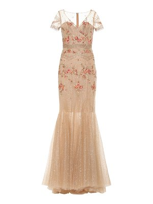 Costarellos embellished tulle gown