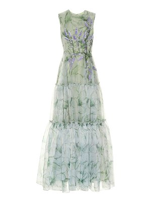 Costarellos Embroidered organza gown