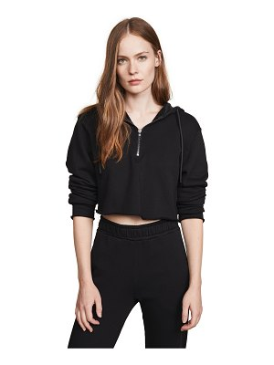 Cotton Citizen athletic crop hoodie
