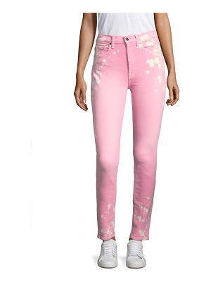 Cotton Citizen the high rise slim skinny bleached jeans