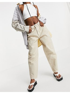 Cotton:On cotton: on high rise mom jeans in sand-brown