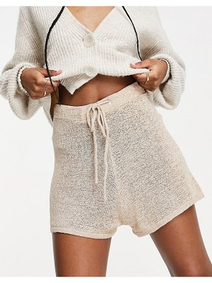 Cotton:On cotton: on knitted shorts in beige-neutral
