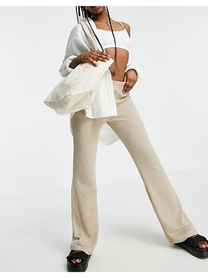 Cotton:On cotton: on textured flare pants in gray-grey