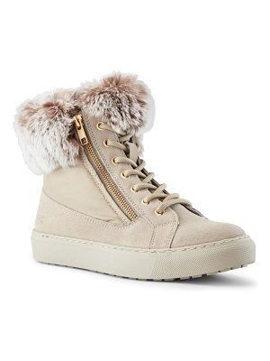 COUGAR danica sneaker boot with genuine rabbit fur trim