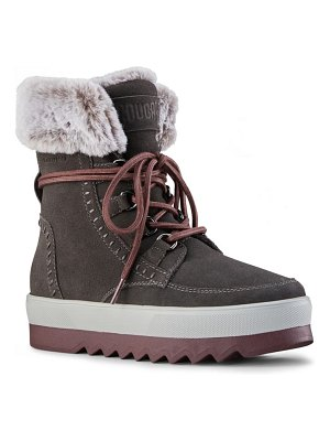 COUGAR vanette genuine rabbit fur trim waterproof boot