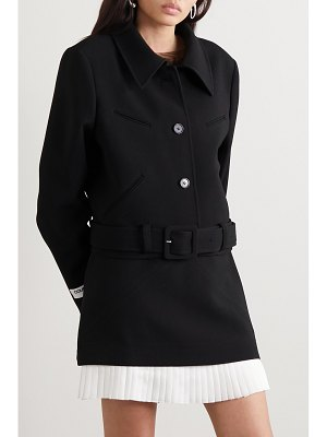 Courreges belted cropped wool jacket