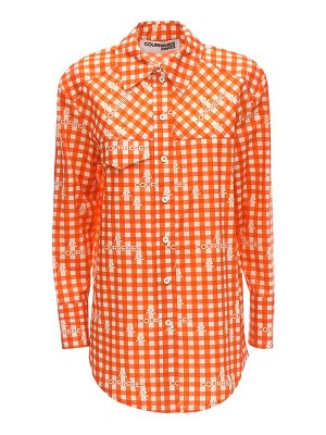 Courreges Check cotton poplin shirt