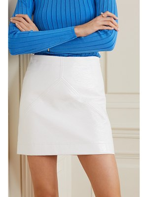 Courreges coated cotton-twill mini skirt