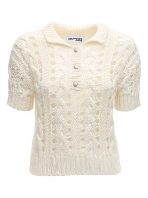 Courreges Cotton knit cardigan
