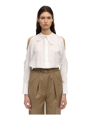 Courreges Cotton poplin shirt w/ cut outs