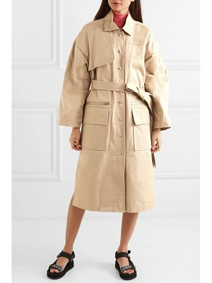 COURRÈGES embroidered cotton-gabardine trench coat