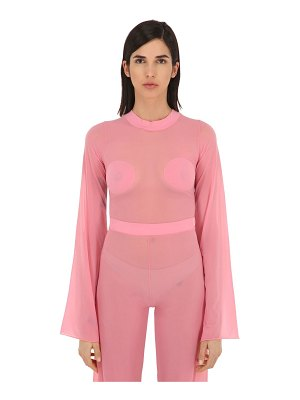 Courreges Gerbe sheer stretch top