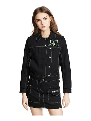 Courreges jacket with asymmetrical buttons