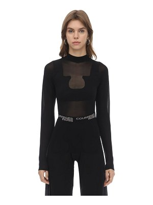 Courreges Long sleeved mesh top