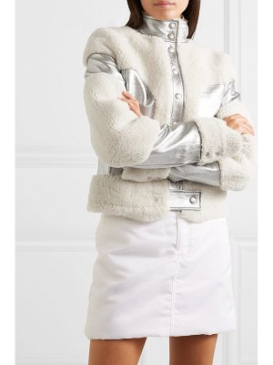 Courreges metallic leather and shearling jacket