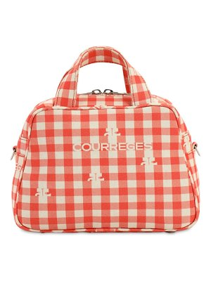 Courreges Printed top handle bag