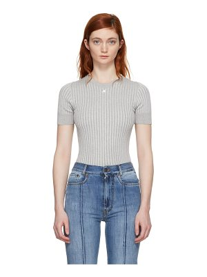 COURRÈGES Ribbed Mock Neck Sweater