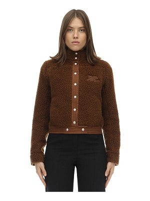 Courreges Short faux shearling jacket