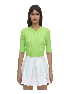 Courreges Short sleeve cotton knit top