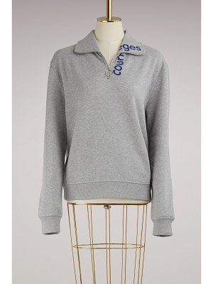 COURRÈGES Zippered Sweater With Logo