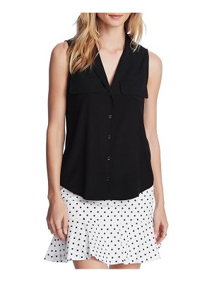 Court & Rowe collared button front sleeveless shirt