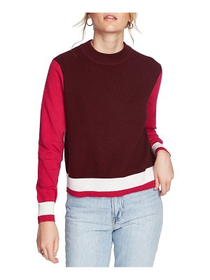 Court & Rowe colorblock cotton blend sweater