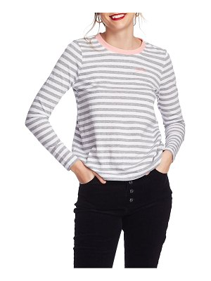 Court & Rowe preppy stripe embroidered top