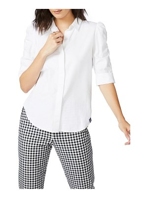 Court & Rowe ruched sleeve button front shirt