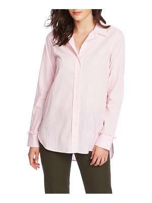 Court & Rowe ruffle cuff stripe shirt