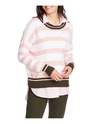 Court & Rowe stripe layered sweater