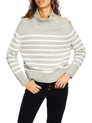 Court & Rowe stripe mock neck sweater
