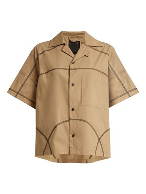 Craig Green Contrast-stitch cotton-blend shirt