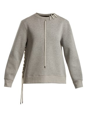 Craig Green Crew-neck lace-up jersey sweatshirt