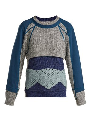 Craig Green Crochet Panelled Cotton Sweater