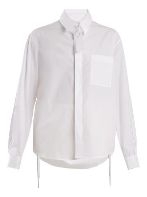 Craig Green Tie-neck cotton shirt