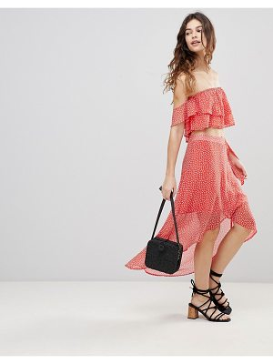 Crescent Polka Dot Skirt And Top Two-Piece