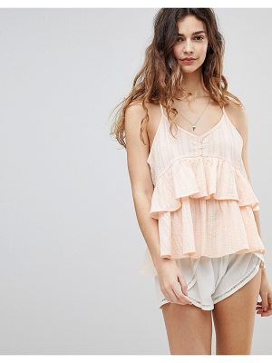 Crescent Ruffled Hem Cami Top