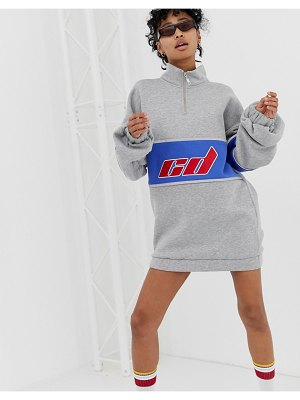Criminal Damage extreme oversized sweat dress with reflective strips