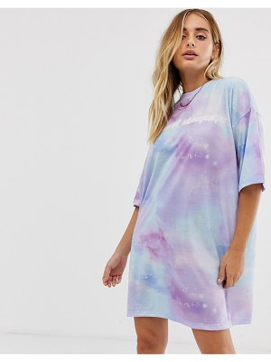 Criminal Damage extreme oversized t-shirt dress in pastel tie dye