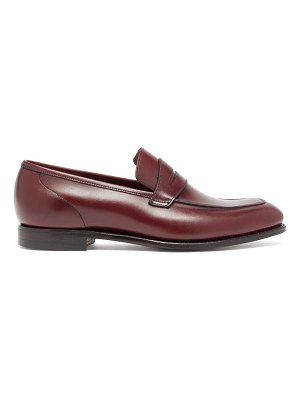 Crockett & Jones lucy patinated-leather penny loafers