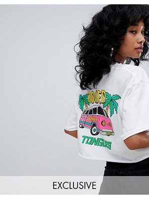 Crooked Tongues cropped t-shirt with camper van print