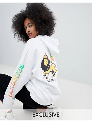 Crooked Tongues oversized hoodie with lion print