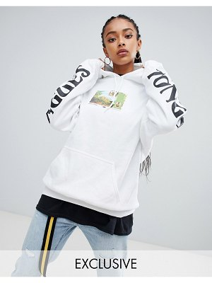 Crooked Tongues oversized hoodie