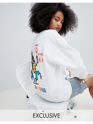 Crooked Tongues oversized sweatshirt with dancing man print