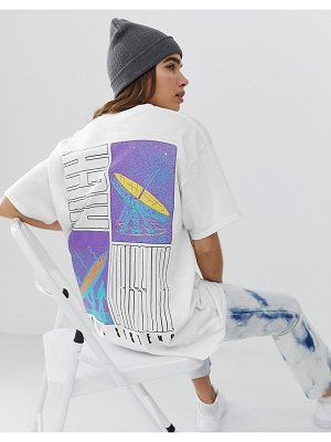 Crooked Tongues oversized t-shirt in space photographic print